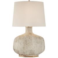 Visual Comfort KW3614AWC-L Kelly Wearstler Beton 35 inch 75 watt Antiqued White Ceramic Table Lamp Portable Light