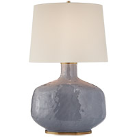 Kelly Wearstler Beton 35 inch 75 watt Cloudy Blue Ceramic Table Lamp Portable Light