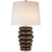 Visual Comfort KW3619CBZ-L Kelly Wearstler Phoebe 29 inch 75 watt Crystal Bronze Table Lamp Portable Light in Crystal Bronze Ceramic, Stacked