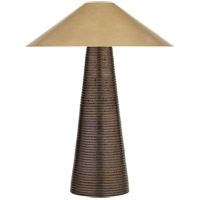 Visual Comfort KW3660CBZ-AB Kelly Wearstler Miramar 21 inch 25 watt Crystal Bronze Ceramic Accent Table Lamp Portable Light