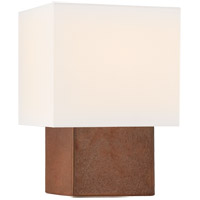 Visual Comfort KW3675ACO-L Kelly Wearstler Pari 13 inch 40 watt Autumn Copper Square Table Lamp Portable Light, Petite