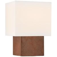 Visual Comfort KW3675ACO-L Kelly Wearstler Pari 13 inch 40 watt Autumn Copper Square Table Lamp Portable Light Petite