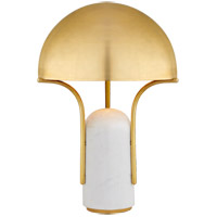 Visual Comfort KW3920WM-AB Kelly Wearstler Affinity 22 inch 40 watt White Marble Table Lamp Portable Light in Antique-Burnished Brass, Medium Dome