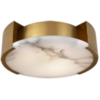 Visual Comfort KW4012AB Kelly Wearstler Melange LED 14 inch Antique-Burnished Brass Flush Mount Ceiling Light, Kelly Wearstler, Small, Lamp, Alabaster Shade
