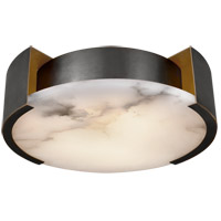 Kelly Wearstler Melange 2 Light 14 inch Bronze Flush Mount Ceiling Light, Kelly Wearstler, Small, Lamp, Alabaster Shade