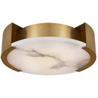 Visual Comfort KW4013AB Kelly Wearstler Melange LED 17 inch Antique-Burnished Brass Flush Mount Ceiling Light, Kelly Wearstler, Large, Lamp, Alabaster Shade