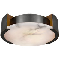 Visual Comfort KW4013BZ Kelly Wearstler Melange LED 17 inch Bronze Flush Mount Ceiling Light, Kelly Wearstler, Large, Lamp, Alabaster Shade