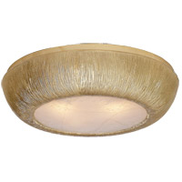 Kelly Wearstler Utopia 3 Light 18 inch Gild Flush Mount Ceiling Light, Kelly Wearstler, Medium, Round, Fractured Glass