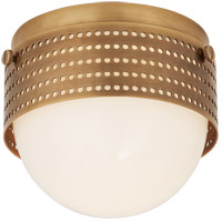 Visual Comfort KW4056AB-WG Kelly Wearstler Precision LED 5 inch Antique-Burnished Brass Solitaire Flush Mount Ceiling Light