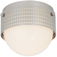Visual Comfort KW4056PN-WG Kelly Wearstler Precision LED 5 inch Polished Nickel Solitaire Flush Mount Ceiling Light