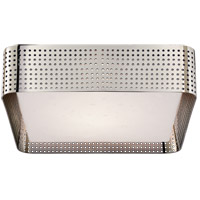 Visual Comfort KW4061PN-CDG Kelly Wearstler Precision 2 Light 13 inch Polished Nickel Flush Mount Ceiling Light, Kelly Wearstler, Large, Square, Clouded Glass