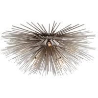 Kelly Wearstler Strada 6 Light 19 inch Burnished Silver Leaf Flush Mount Ceiling Light