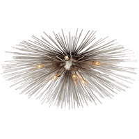Visual Comfort Kelly Wearstler Strada 10 Light 28-inch Flush Mount in Burnished Silver Leaf, Medium KW4070BSL