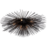 Visual Comfort Kelly Wearstler Strada 10 Light 40-inch Flush Mount in Aged Iron, Large KW4071AI