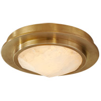 Visual Comfort KW4093AB/Q Kelly Wearstler Halcyon LED 5 inch Antique-Burnished Brass Flush Mount Ceiling Light, Petite Bezel