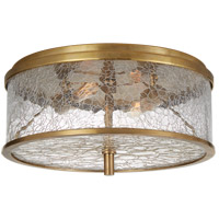 Kelly Wearstler Liaison 2 Light 12 inch Antique-Burnished Brass Flush Mount Ceiling Light, Medium