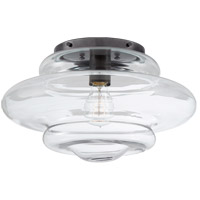 Visual Comfort KW4271BZ-CG Kelly Wearstler Tableau 1 Light 15 inch Bronze Flush Mount Ceiling Light in Clear Glass, Medium