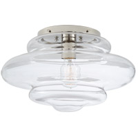 Visual Comfort KW4271PN-CG Kelly Wearstler Tableau 1 Light 15 inch Polished Nickel Flush Mount Ceiling Light in Clear Glass, Medium