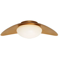 Visual Comfort KW4280AB-WG Kelly Wearstler Nouvel LED 20 inch Antique-Burnished Brass Flush Mount Ceiling Light, Medium