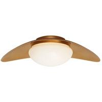 Visual Comfort KW4280AB-WG Kelly Wearstler Nouvel LED 20 inch Antique-Burnished Brass Flush Mount Ceiling Light Medium