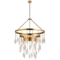 Visual Comfort KW5012AB-Q Kelly Wearstler Halcyon 6 Light 36 inch Antique Burnished Brass Pendant Ceiling Light, Kelly Wearstler, Large, Chandelier, Quartz