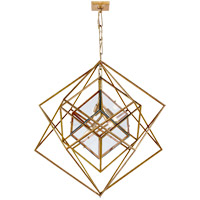 Visual Comfort KW5021G-CG Kelly Wearstler Cubist 4 Light 31 inch Gild Pendant Ceiling Light, Kelly Wearstler, Medium, Chandelier, Clear Glass