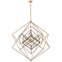 Kelly Wearstler Cubist 5 Light 45 inch Gild Pendant Ceiling Light, Kelly Wearstler, Large, Chandelier, Clear Glass