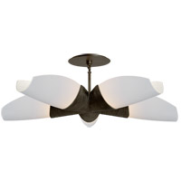 Visual Comfort KW5036AI-WG Kelly Wearstler Utopia 5 Light 33 inch Aged Iron Chandelier Ceiling Light