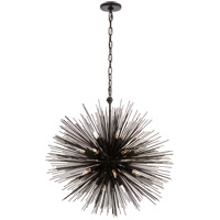 Visual Comfort Kelly Wearstler Strada 20 Light 28-inch Pendant in Aged Iron, Medium, Round KW5071AI