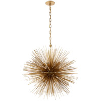 Visual Comfort Kelly Wearstler Strada 20 Light 28-inch Pendant in Gild, Medium, Round KW5071G