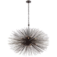 Visual Comfort Kelly Wearstler Strada 20 Light 38-inch Pendant in Aged Iron, Medium, Oval KW5074AI