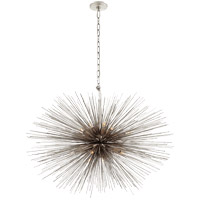 Visual Comfort Kelly Wearstler Strada 20 Light 38-inch Pendant in Burnished Silver Leaf, Medium, Oval KW5074BSL