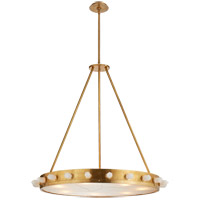 Visual Comfort Kelly Wearstler Halcyon 7 Light 33-inch Pendant in Antique Burnished Brass, Large, Quartz KW5091AB/Q-FRG