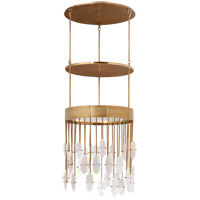 Visual Comfort KW5095AB/Q Kelly Wearstler Halcyon 6 Light 20 inch Antique Burnished Brass Pendant Ceiling Light, Kelly Wearstler, Medium, Round, Quartz