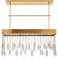 Visual Comfort KW5098AB-Q Kelly Wearstler Halcyon 12 Light 43 inch Antique Burnished Brass Linear Pendant Ceiling Light, Kelly Wearstler, Large, Quartz