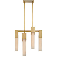 Visual Comfort KW5112AB-ALB Kelly Wearstler Covet LED 18 inch Antique-Burnished Brass Chandelier Ceiling Light, Small