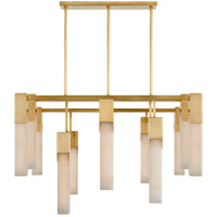 Visual Comfort KW5115AB-ALB Kelly Wearstler Covet LED 31 inch Antique-Burnished Brass Chandelier Ceiling Light, Large photo thumbnail