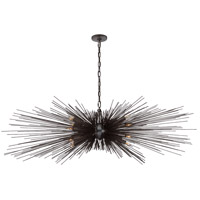 Visual Comfort KW5182AI Kelly Wearstler Strada 16 Light 60 inch Aged Iron Linear Chandelier Ceiling Light, Large