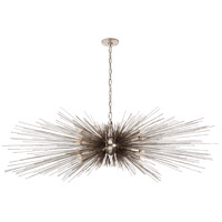 Visual Comfort KW5182BSL Kelly Wearstler Strada 16 Light 60 inch Burnished Silver Leaf Linear Chandelier Ceiling Light, Large