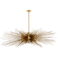 Visual Comfort KW5182G Kelly Wearstler Strada 16 Light 60 inch Gild Linear Chandelier Ceiling Light, Large