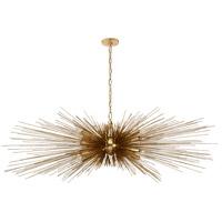 Visual Comfort KW5182G Kelly Wearstler Strada 16 Light 60 inch Gild Linear Chandelier Ceiling Light Large