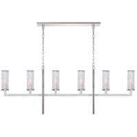 Kelly Wearstler Liaison 6 Light 62 inch Polished Nickel Linear Chandelier Ceiling Light, Large