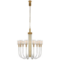 Visual Comfort KW5401CRB/AB Kelly Wearstler Reverie 10 Light 29 inch Clear Ribbed Glass and Brass Chandelier Ceiling Light