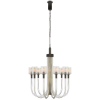 Kelly Wearstler Reverie 10 Light 29 inch Clear Ribbed Glass and Bronze Chandelier Ceiling Light