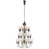 Visual Comfort KW5406CRB/BZ Kelly Wearstler Reverie 27 Light 27 inch Clear Ribbed Glass and Bronze Chandelier Ceiling Light