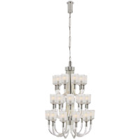 Kelly Wearstler Reverie 27 Light 27 inch Clear Ribbed Glass and Polished Nickel Chandelier Ceiling Light