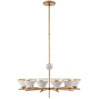 Visual Comfort KW5511AB-WHT Kelly Wearstler Cleo 12 Light 37 inch Antique-Burnished Brass Chandelier Ceiling Light