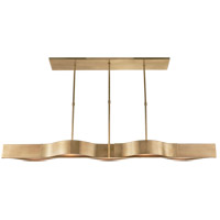 Visual Comfort KW5523AB-FG Kelly Wearstler Avant 5 Light 60 inch Antique-Burnished Brass Linear Pendant Ceiling Light in Antique Burnished Brass