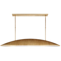 Kelly Wearstler Utopia 3 Light 60 inch Gild Linear Pendant Ceiling Light, Kelly Wearstler, Large, Frosted Acrylic Shade