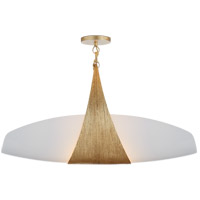 Visual Comfort KW5553G-WG Kelly Wearstler Utopia 2 Light 28 inch Gild Linear Pendant Ceiling Light, Kelly Wearstler, Large, White Glass